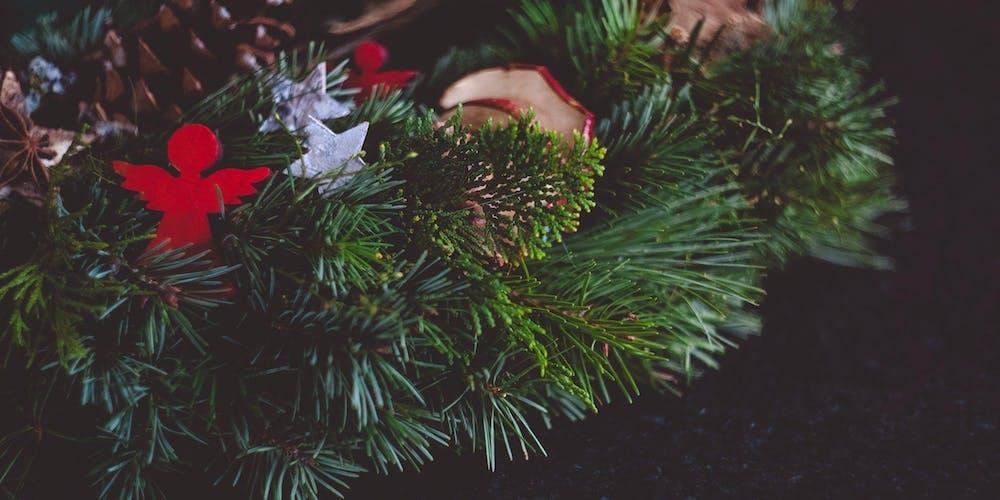 Making Christmas.Charity Christmas Wreath Making Evening