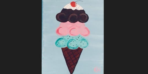 Ice Cream Kid Paint Camp