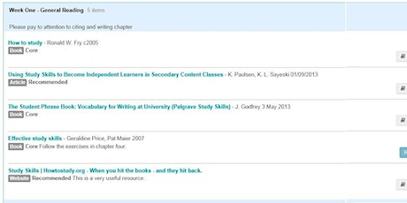 Reading List Service Training for Academic, Admin & Teaching Support Staff tickets