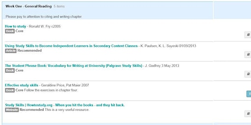 Reading List Service Training for Academic, Admin & Teaching Support Staff