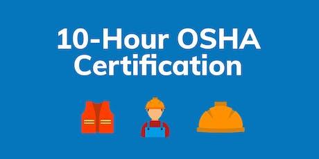 OSHA 10-Hour Course tickets