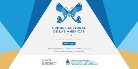 Cumbre Cultural de las Américas entradas