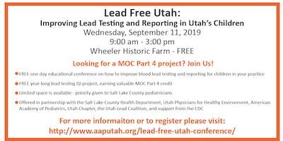 Lead Free Utah Conference