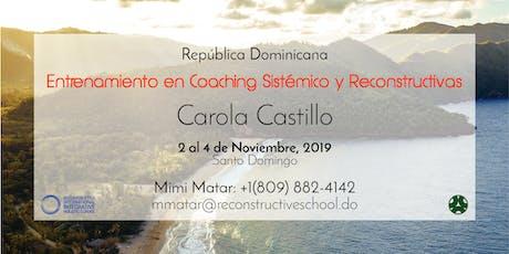 Entrenamiento en Coaching Sistémico y Reconstructivas tickets