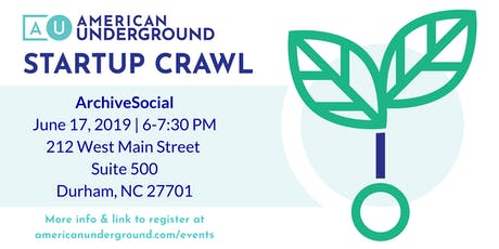 Startup Crawl: ArchiveSocial tickets