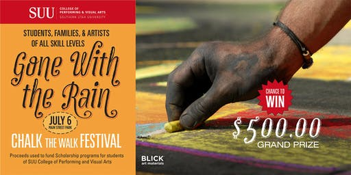 Gone with the Rain: Chalk the Walk Festival