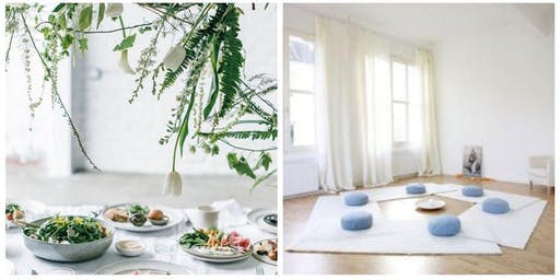 3 Course Vegan Brunch, Healing Sound Bath Immersion with Restorative Yoga