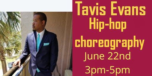 Tavis Evans hip-hop dance class