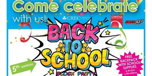CREC Back To School Block Party