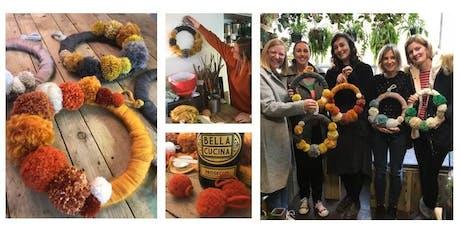 Pom Pom Wreath & Prosecco Workshop - Lewes tickets