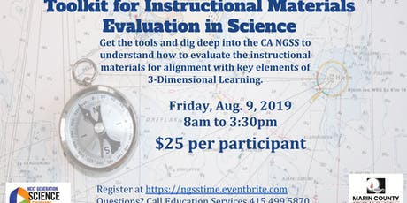 Toolkit For Instructional Materials Evaluation in Science tickets