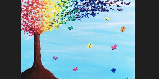 Rainbow Blossom Kid Paint Camp