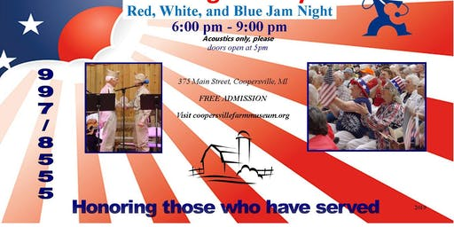 Red, White, and Blue Jam Night