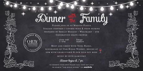 Winemaker's Dinner at the Maggio Family's Piazza  tickets