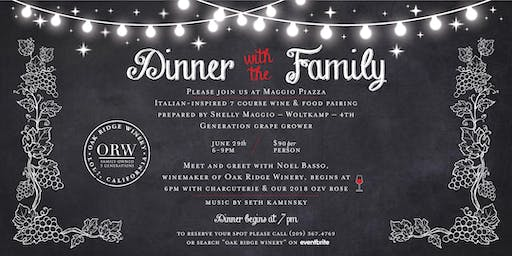 Winemaker's Dinner at the Maggio Family's Piazza