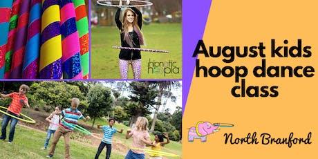 August Kids Hula Hoop Star Class   North Branford   4 Week Series  tickets