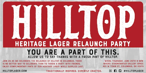 Hilltop Heritage Lager Relaunch Party