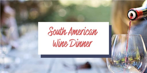 South American Wine Dinner
