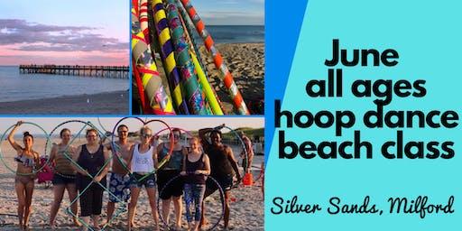 Hoop Dance Beach Class | Silver Sands Milford | Fun Outdoor Fitness