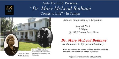 Dr. Mary McLeod Bethune Comes to Life in Tampa tickets