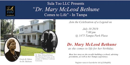 Dr. Mary McLeod Bethune Comes to Life in Tampa