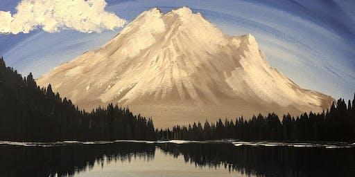 """Mighty mountain"" paint night Banff"
