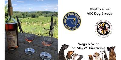 Wags & Wine Event - Meet & Greet AKC Dog Breeds
