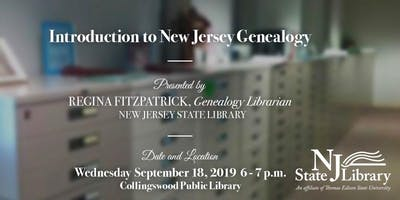 Free Event: Introduction to NJ Genealogy with the New Jersey State Library