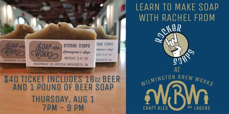 Let's Make Soap - Beer Soap Class tickets