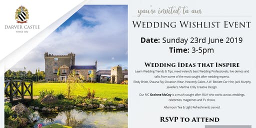 Exclusive Wedding WishList Event