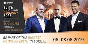 Tony Robbins, Eric Worre, Pitbull in Germania