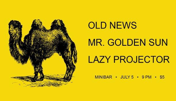 Old News (Wichita/Lawrence) / Mr. Golden Sun / Lazy Projector