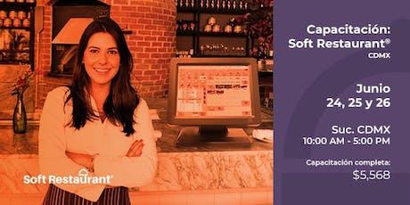 CDMX: Capacitación  Soft Restaurant® entradas