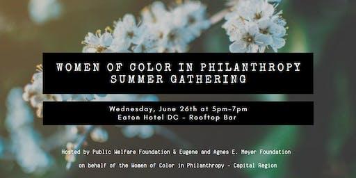 Women of Color in Philanthropy Summer Gathering!