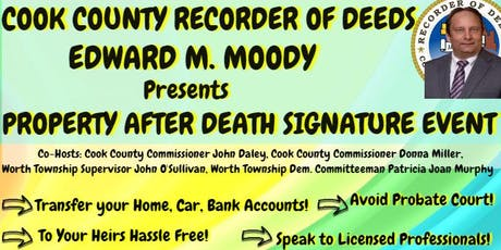 CCRD/Worth Township Property  After Death Signature Event tickets