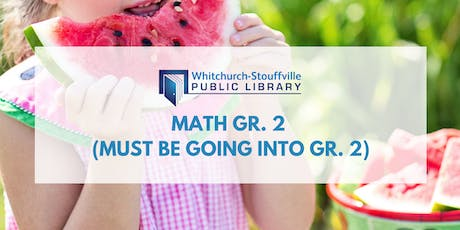 Math Gr. 2 (must be going into Gr. 2) tickets