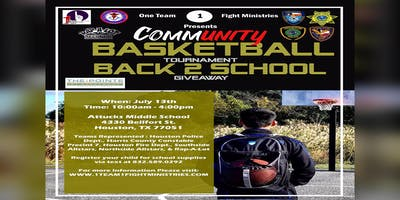 Community Unity Basketball Tournament - Back 2 School Giveaway