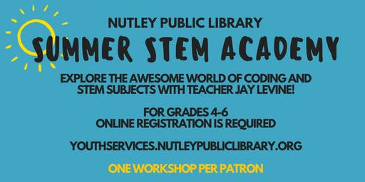 Summer STEM Academy: Coding - Java Script/App Making (7/27 & 7/31 at 2:00 PM)
