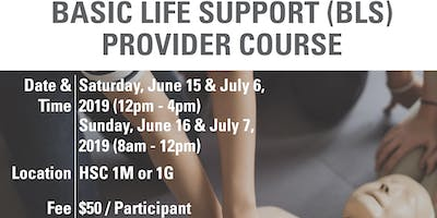 BLS Provider Course June 15-16 &  July 6-7, 2019