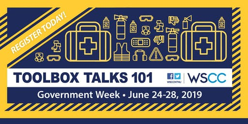 Safety and Health Week: Toolbox Talks for Government Departments