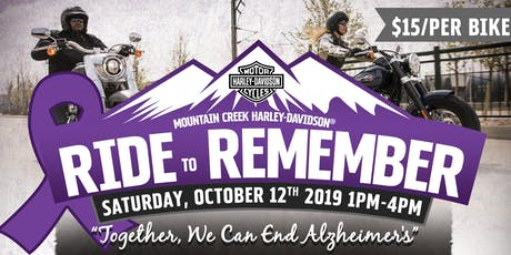 Ride to Remember tickets