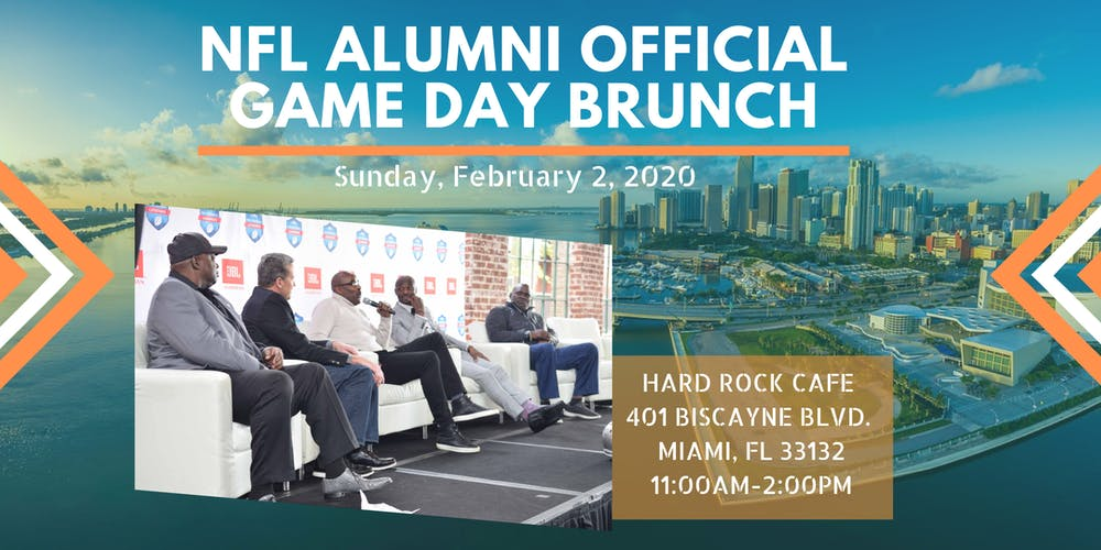 Super Bowl 2020 Schedule Of Events NFL Alumni Official Super Bowl Game Day Brunch Presented by JBL