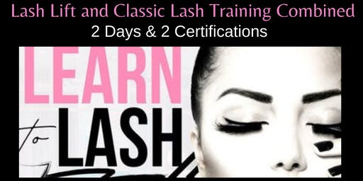 JULY 18-19 2-DAY LASH LIFT AND CLASSIC LASH EXTENSION CERTIFICATION TRAINING
