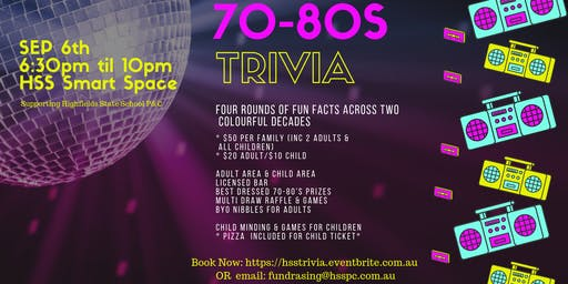Highfields 70-80's Trivia Night