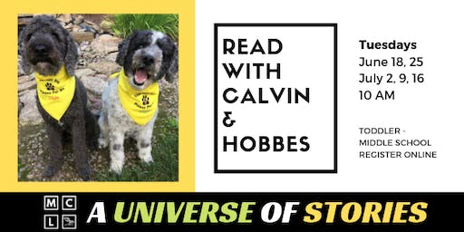 Read with Therapy Pets Calvin & Hobbes