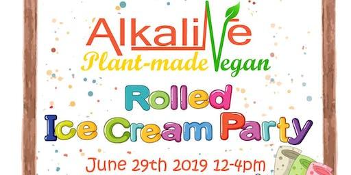 Alkaline Vegan Rolled Ice Cream Party