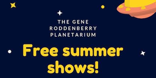 Free planetarium public shows!