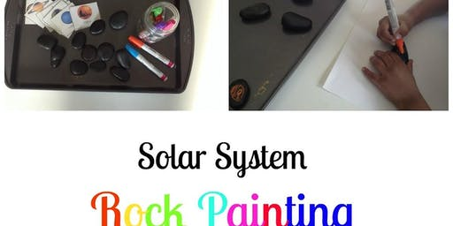 Spanish Circle for Kids: My Solar System Rock Painting