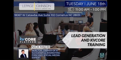 AGENT TRAINING:  Lead Generation & KV Core with Nick Macri tickets