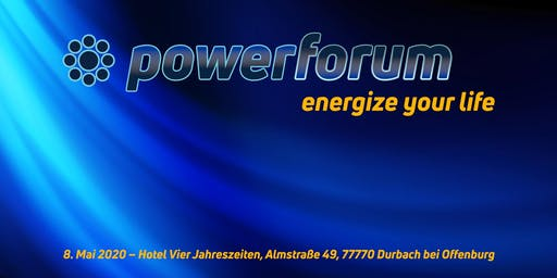 Powerforum 2020 - energize your life